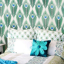 Peacock Feathers Stencil Pattern - Sturdy & Reusable Wall Stencils for DIY Decor