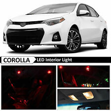 2015 & up Toyota Corolla Red Interior LED Light Package Kit + TOOL