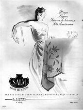 ▬► PUBLICITE ADVERTISING AD LINGE DE MAISON SALM LANGLAIS 1948
