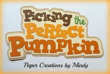 Craftecafe Mindy Fall Pumpkin Patch title premade paper piecing for scrapbook