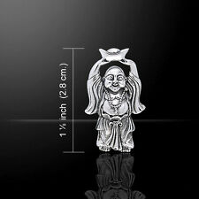 Happy Buddha Hotei .925 Sterling Silver Pendant by Peter Stone
