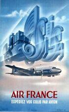Affiche Air France -  Expédiez vos colis par Avion