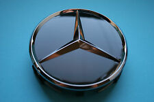 Set of 4 Genuine Mercedes Benz Alloy Wheel Centre Cap BLACK B66470200