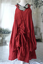 STUNNING GERMAN  CHAMPAGNE LAGENLOOK amazing parachute dress sz XL/XXL BERRY