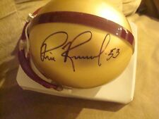 Bill Romanowski AUTOGRAPH BOSTON COLLEGE MINI HELMET SIGNED