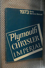 1973 PLYMOUTH CHRYSLER BODY SHOP MANUAL ORIGINAL SERVICE BOOK NR