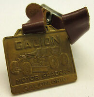 ANTIQUE GALION MOTOR GRADERS POCKET WATCH FOB w/ LEATHER STRAP **