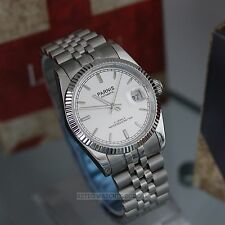 PARNIS Datejust Miyota 21J Automatic Polished Steel Luxury Watch 35mm