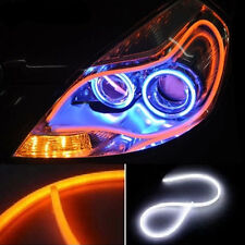 2x 60cm LED Audi Type Flexible Strip DRL Dual -White & Amber For Maruti Alto K10