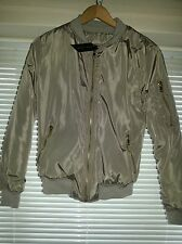 New Look Light Khaki/Green Padded Bomber Jacket Size 8 Coat/Autumn/BNWT/Ladies