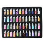New 48 Colors Glass Bottled Nail Art Decoration Sequins Rhinstones Caviar Gems