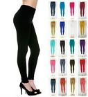 Winter Warm Leggings Fleece Lined Solid Long Stretchy Thick - Regular & Plus