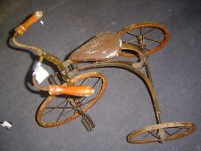 tricycle old antique vintage museum quality oldest ive ever seen 3 three wheel