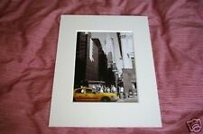 Reis new york 5th avenue yellow cab taxi photo art print picture black and white