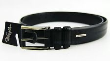 BRUNO MAGLI BLACK BIG & TALL HANDMADE BELT 100% LEATHER NEW SIZE 44 MADE IN USA
