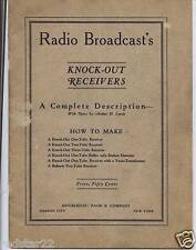 "How to make Radio Broadcast's Knock-Out Receivers on CD  ""GREAT"""