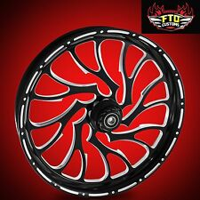 "Harley Davidson 23"" Inch Custom Front Wheel ""Nightmare"" by FTD Customs"