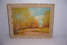 VINTAGE 1960 OIL PAINTING THE WINDING ROAD BY BASEL WALLACE