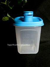 Tupperware NEW Slim Line Mini Quick MIX Shake & Pitcher Flip Top Spout Blue