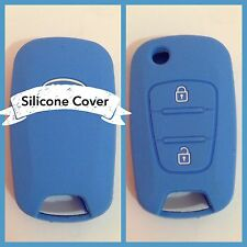 BLUE CAR KEY COVER CASE PROTECTOR Rio Sorento Sportage Picanto Amanti FOR KIA
