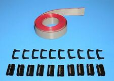 IDC Cable Ribbon Cable Connector Kit 12 Ft 16-Pin (2x8) , Fast ship from USA