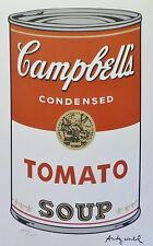 ANDY WARHOL CAMPBELL'S SOUP I TOMATO SIGNED HAND NUMBERED 1929/3000 LITHOGRAPH