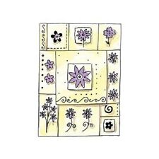 PENNY BLACK RUBBER STAMPS SPRING PATCH FLOWER STAMP