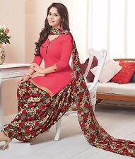 Elegant Crepe Designer Printed Patiala Unstitched Dress Material Suit.No RR9022