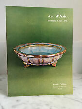 Catalogue de vente Art d'Asie Secrétaire Louis XVI Palais Galliera 25 Mars 1977