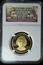 2010-W ABIGAIL FILLMORE PROOF $10 1/2 oz GOLD - FIRST SPOUSES ** NGC PF 70 UC