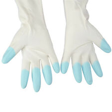 Warm Rubber Gloves Household Kitchen Dish Washing Cleaning PVC Cotton Gloves New