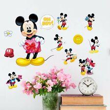 DIY Cartoon Mickey Mouse Mural Wall Sticker Decals Kids Child Room Decor Vinyl