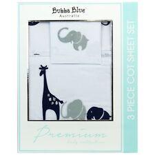 Brand New Bubba Blue Savanna Boy Cot Sheet Set  Baby Sleep Bed Time