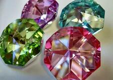 4 Octagon Chandelier Wedding Crystal 30mm Prism Suncatcher Pink Green Aqua Lilac