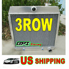3 ROW 1955 1956 1957 ALUMINUM RADIATOR CHEVY BEL AIR V8 W/COOLER.