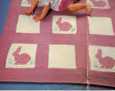 CUTE Baby Bunny Baby Afghan/Crochet Pattern Instructions