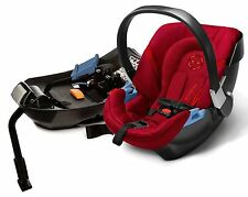 Cybex Aton 2 Infant Baby Car Seat & Base w/ Load Leg Hot & Spicy NEW