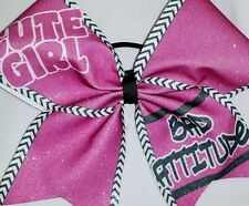 Cheer Bow - Cute Girl Bad Attitude  - Hair Bows