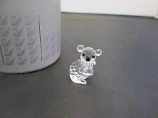 Swarovski Silver Crystal Figure Ornament - Cute Crystal Koala Bear Art No 7673