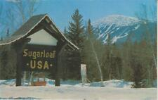 "Ski Poster "" Gondola Sign with Trails in Background"" Sugarloaf USA Kingfield ME"