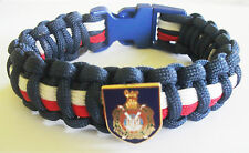 KINGS OWN SCOTTISH BORDERERS (KOSB) PARACORD WRISTBAND WITH BADGES