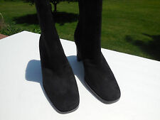 "NWOT MARKON ""ZOLLAN"" LADIES BLACK SUEDE ANKLE BOOTS SIZE 6 M"