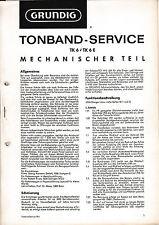 Service Manual-Anleitung für Grundig TK 6