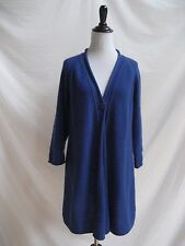 Kinross Size 1 (Small) 100% Cashmere Sweater Blue Long Cape Style