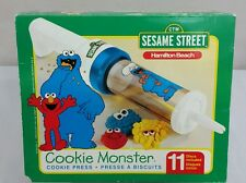 Hamilton Beach Cookie Monster Cookie Press 11 Discs New in Box Sesame Street