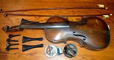 Antique American Violin and 2 Antique Bows Lot 295
