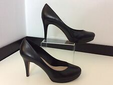 Vince Camuto Black Leather Court Shoes Vgc Size 38 Uk 5 Heels