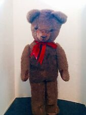 "Vintage 26"" Brown Mohair German Rare Walking , Growling Teddy Bear"
