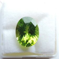 6.16cts Certified Natural UNTREATED Olive Green Oval PERIDOT Loose Gemstone