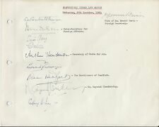 1949 Wembley page signed by dignitaries inc Henderson Headfort Glendenning Ince